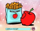 Dibujo Apple fries pintado por luna2345
