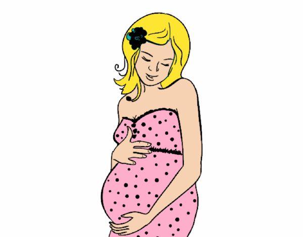 Dibujo De Mujer Embarazada Feliz Pintado Por En Dibujosnet El Día