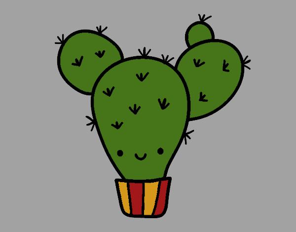 Dibujo De Cactus Nopal Pintado Por Kathya2001 En Dibujosnet