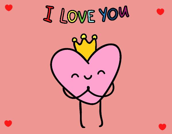 San Valentin Dibujos En Color: Dibujo De Corazon Kawaii Pintado Por En Dibujos.net El Día