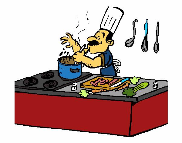 Cocina Dibujo | Dibujo De Cocinero En La Cocina Pintado Por Teacheryax En Dibujos