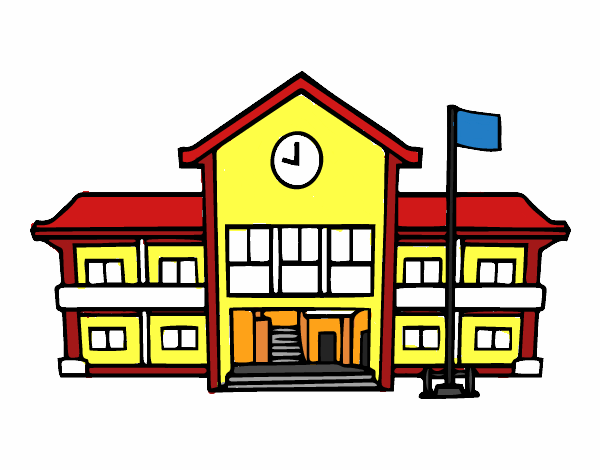 Imagenes De Edificios En Caricatura: Dibujo De Escuela Pintado Por Teacheryax En Dibujos.net El