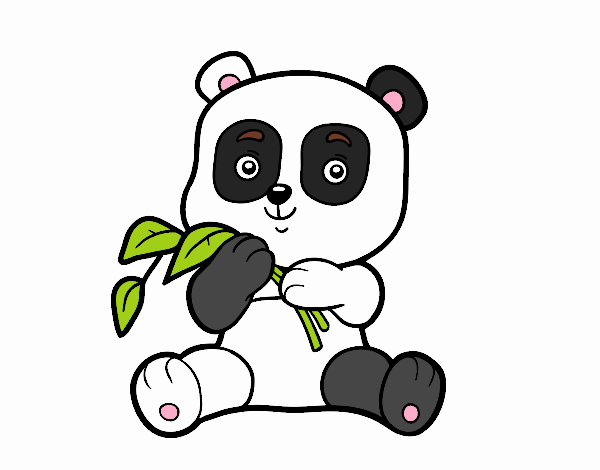 Dibujo de Bebé panda pintado por en Dibujos.net el día 17-04-17 a ...