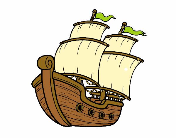 Dibujo de Barco de vela pintado por Lamar en Dibujos.net ...