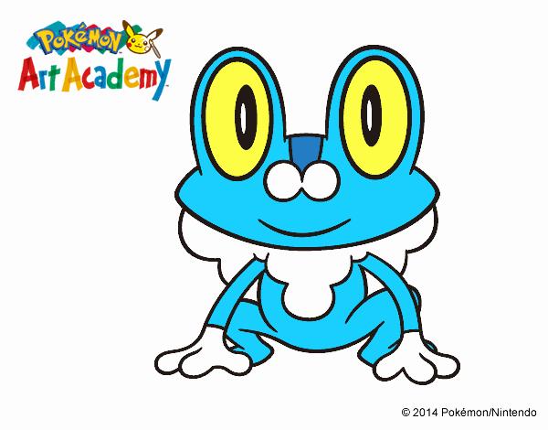 Dibujos De Pokemon De Agua Para Colorear: Dibujo De Azul Tipo Agua Es Froakie Pintado Por En Dibujos