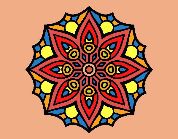 Dibujo De La Mandala De Colores Fuertes Pintado Por En Dibujosnet