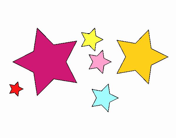 Dibujo De 6 Estrellas Pintado Por En Dibujos.net El Día