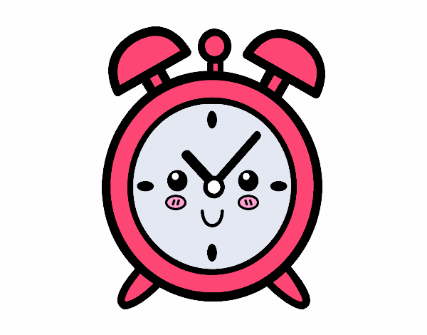 Dibujo de Reloj despertador pintado por en Dibujos.net el día 03-06 ...