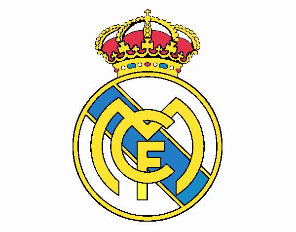 Dibujo De Escudo Del Real Madrid Cf Pintado Por En Dibujos