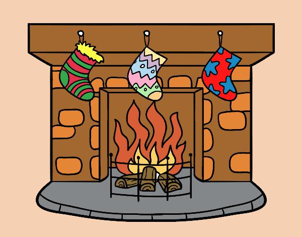 Dibujo de Chimenea de Navidad pintado por en Dibujosnet el da 18