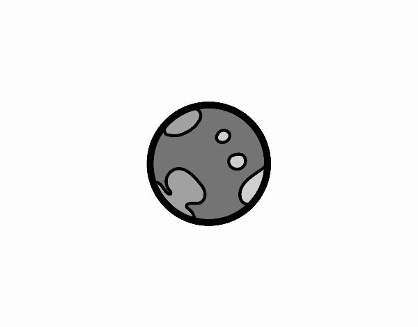 Dibujo de El planeta enano Plutón pintado por en Dibujos.net el día ...