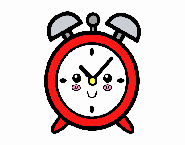 Dibujo de Reloj despertador pintado por en Dibujos.net el día 17-06 ...