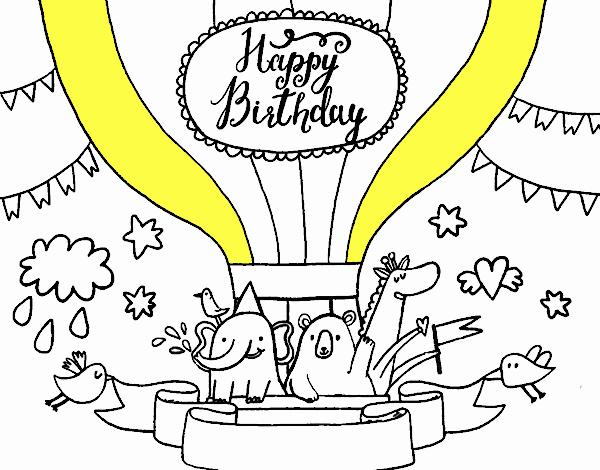 Dibujo de Tarjeta de Feliz Cumpleaños pintado por en Dibujos.net el ...