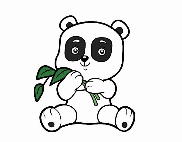 Dibujo de Un oso panda pintado por en Dibujos.net el día 18-06-17 a ...