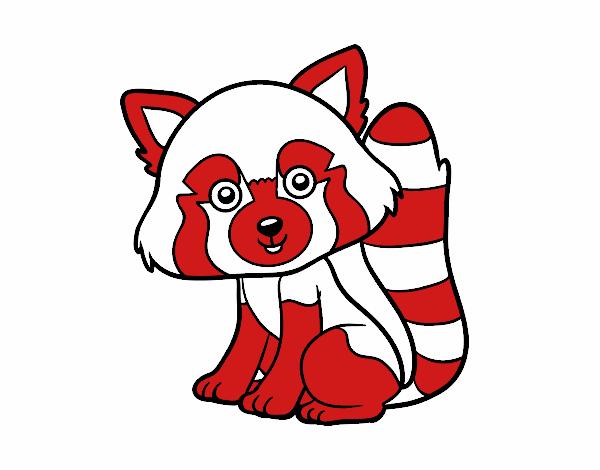 Dibujo de Panda rojo pintado por en Dibujos.net el día 28-06-17 a ...