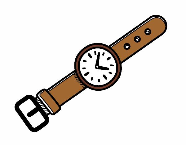 Dibujo De Un Reloj De Muñeca Pintado Por Ghiberllin En