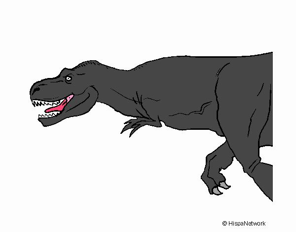 dibujo de tiranosaurio rex pintado por en dibujos net el día 22 07