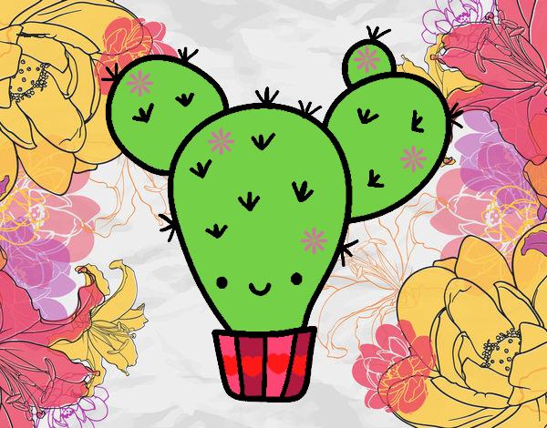 Dibujo De Cactus Kawaii Pintado Por En Dibujosnet El Día 26 07 17 A