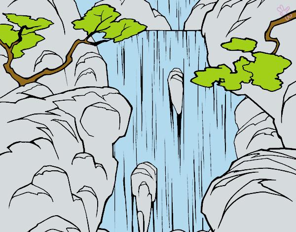 Dibujo De Cascada Pintado Por Michellinh En Dibujosnet El