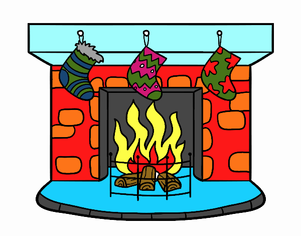 Dibujo de Chimenea de Navidad pintado por en Dibujosnet el da 29