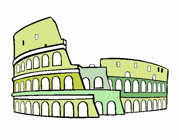 Dibujo De Coliseo Romano Pintado Por En Dibujosnet El Día 04 08 17