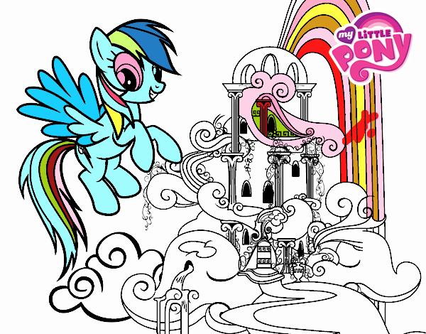 Dibujo de Rainbow Dash en su palacio pintado por en Dibujos.net el ...