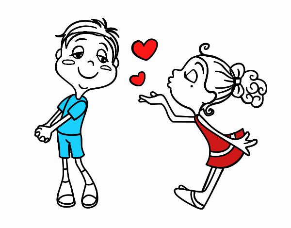 Dibujo de Lanzar un beso pintado por en Dibujos.net el día 14-08-17 ...
