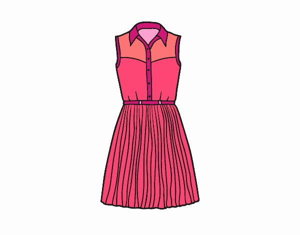 Dibujo De Vestido Tejano Pintado Por Perla01 En Dibujosnet