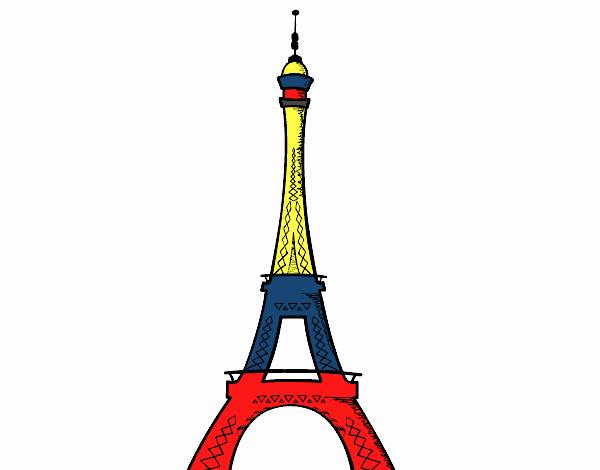 Torre Ifel En Dibujo: Dibujo De La Torre Eiffel Pintado Por Carlosandr En