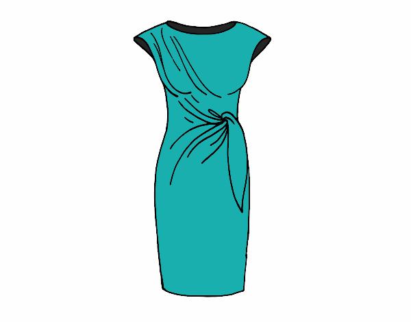 Dibujo De Vestido Elegante Pintado Por En Dibujosnet El Día
