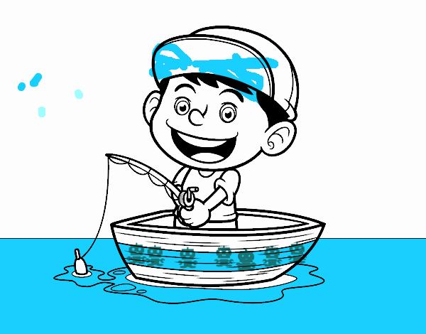 Dibujo de Niño pescando pintado por en Dibujos.net el día 19-09-17 a ...