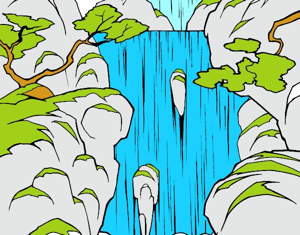 Dibujo De Cascada Pintado Por En Dibujosnet El Día 01 10 17