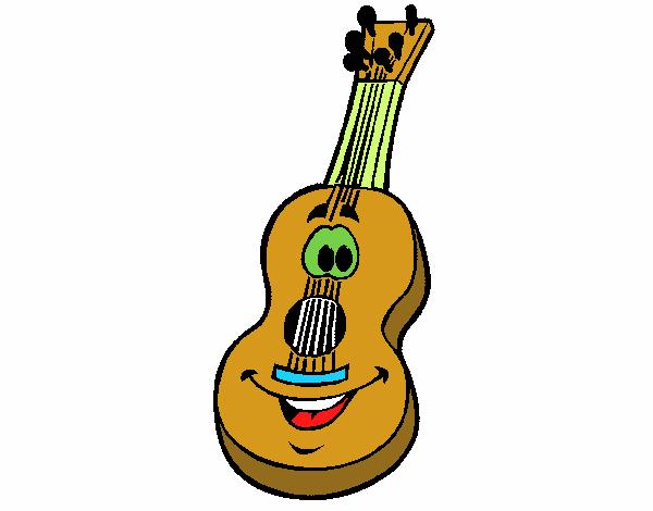 Dibujo Guitarra Espanola