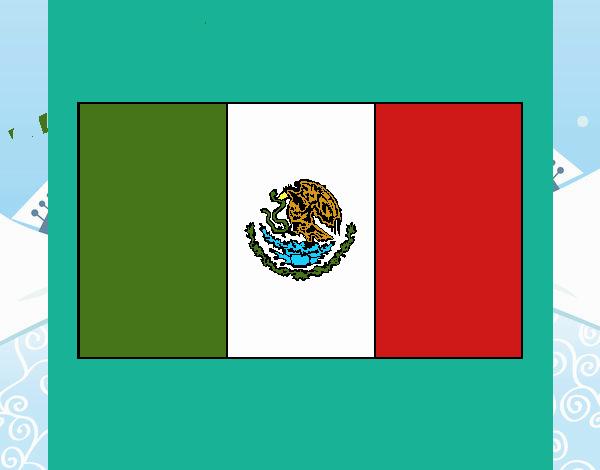 Dibujo De Mandala De Bandera De Mexico Pintado Por En