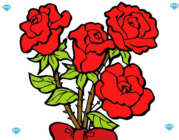 Dibujo De Alas Rosas Rojas Pintado Por En Dibujos Net El Dia 11 10