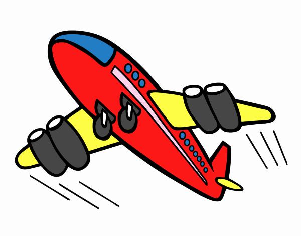 Dibujo De Avión Rápido Pintado Por En Dibujos.net El