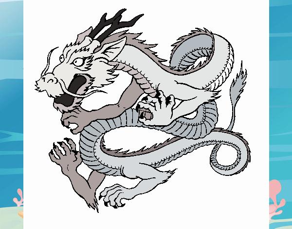 Dibujo de Dragón japonés 1 pintado por en Dibujos.net el día 20-10 ...