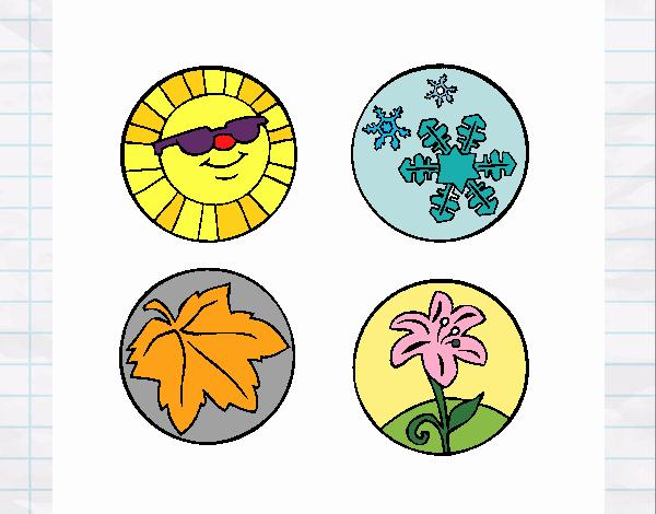 Dibujos De Las 4 Estaciones Para Colorear: Dibujo De Estaciones Del Año Pintado Por En Dibujos.net El
