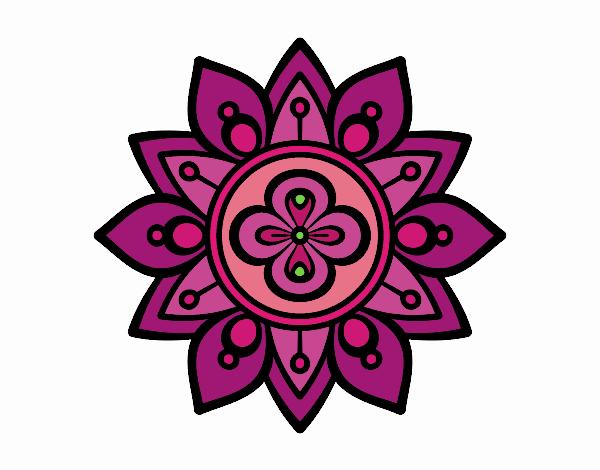 Dibujo De Mandala Flor De Loto Pintado Por En Dibujosnet El Día 20