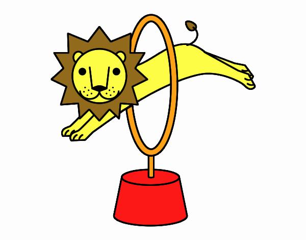 Dibujo de León saltando pintado por en Dibujos.net el día 27-10-17 a ...