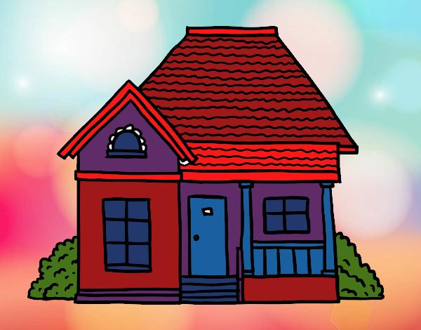 Dibujo De La Casa De Los Colores Pintado Por En Dibujosnet El Día