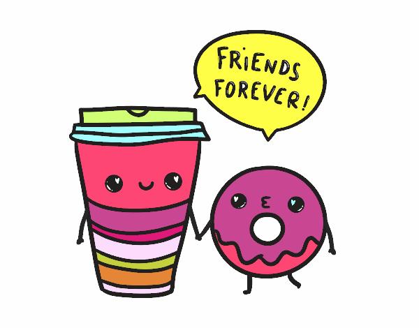 Dibujo De Los Mejores Amigos Pintado Por En Dibujosnet El Día 09 11