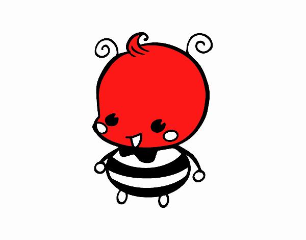 Dibujo de Bebé abeja pintado por en Dibujos.net el día 16-11-17 a ...