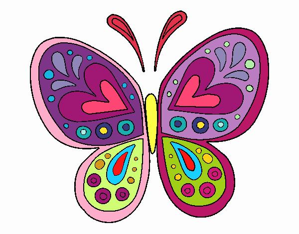 Imagenes De Mariposas De Colores: Dibujos De Mariposas Infantiles A Color