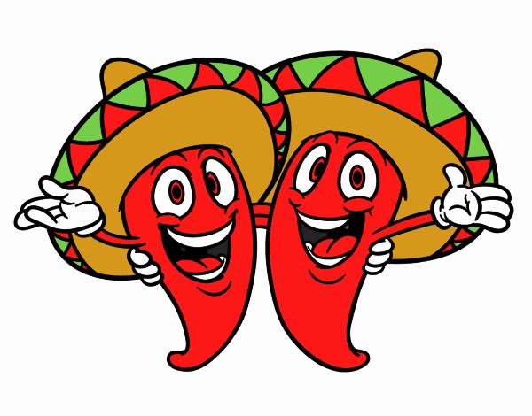 Dibujo de Pimientos mexicanos pintado por en Dibujos.net el día 17 ... 2b51063c4dc