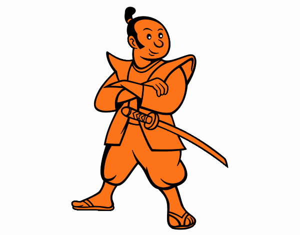 Dibujo de Samurái adulto pintado por en Dibujos.net el día 18-11-17 ...