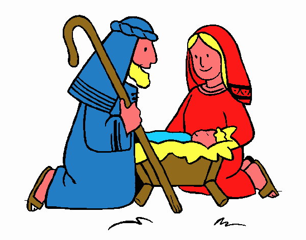 Dibujo De Adoran Al Niño Jesús Pintado Por En Dibujosnet El