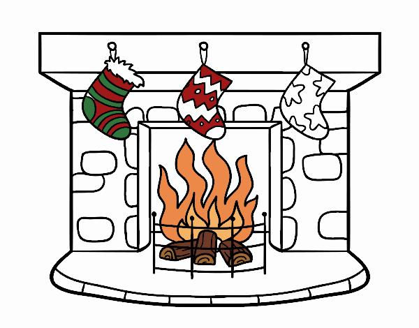 Dibujo de Chimenea de Navidad pintado por en Dibujosnet el da 23