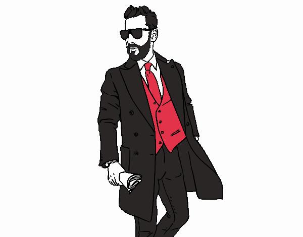Dibujo De Hombre Con Traje Pintado Por En Dibujos.net El