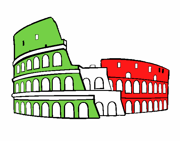 Dibujo De Coliseo Romano Pintado Por En Dibujosnet El Día 01 12 17